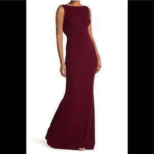 Vionnet Drape Back Crepe Gown